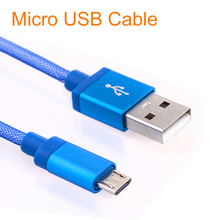 1M Braided Micro USB Cable Coiled Charger Data Cable For Samsung Galaxy Cell Phones 6 Colors Available
