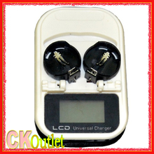 High-Quality Quick Button Battery Charger 2032 2025 2016 3.6 V USB interface with LCD lir2025 Rechargeable lir2032