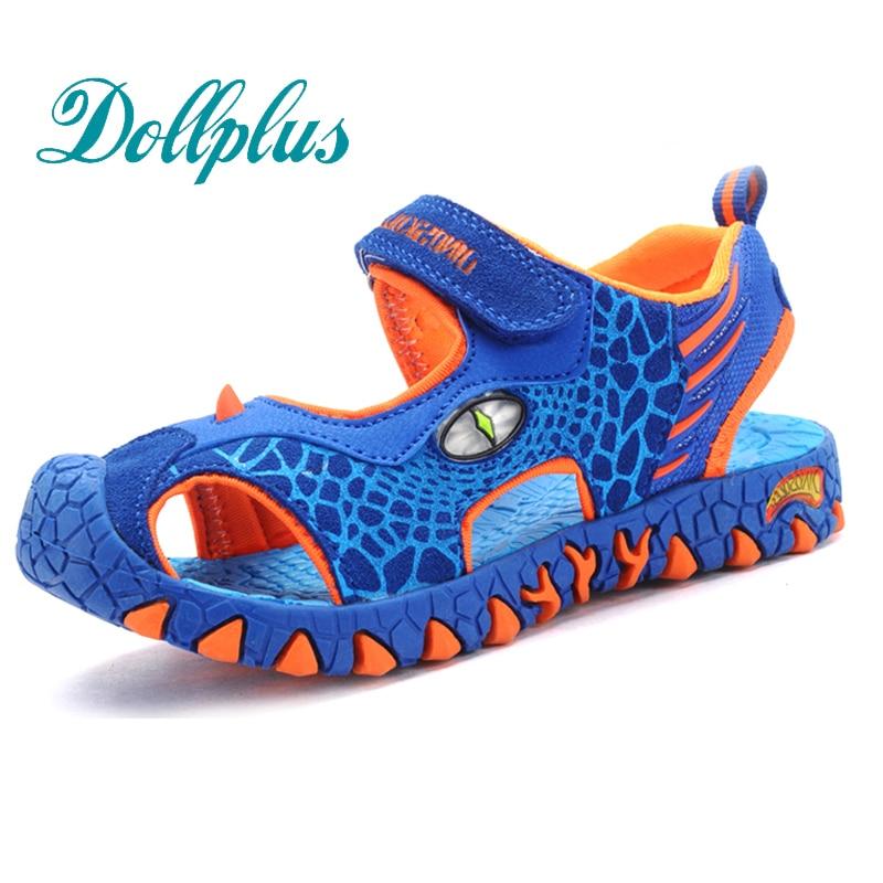 2017 children summer shoes 3D dinosaurs fashion boys sandals cut out non-slip boys beach shoes for kids boy<br><br>Aliexpress