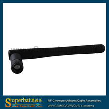 Superbat 2.4GHz 3dBi Support IEEE 802.11b 802.11g 802.11b/g Wirless Lan Rubber Aerial RP-SMA Omni WIFI Antenna Booster Black