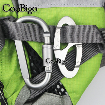 1set Carabiner D Ring Screw Locking Snap Hook Spring Clip Moll Tactical Backpack Carabiner Keychain Hiking Camping Kits #CS015