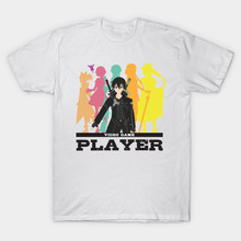 2017 Newest Men Brand Clothing Anime SAO T Shirt Hipster O-Neck Sword Art Online Video Game Player Print T-Shirt Cool Tops Tees(China)