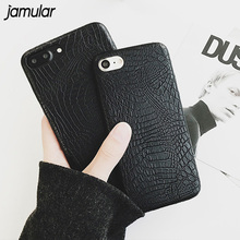 JAMULAR Leather Cover For iPhone X 6 6s Case Crocodile Snake Leather Back Cover Case for iphone 7 8 Plus 5s SE Phone Bags Cases