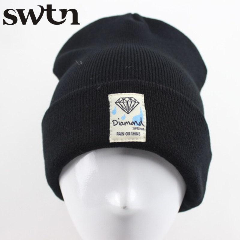 New Arrival High Quality  Diamond Hip-Hop Mens Men Women Unisex cap  Beanies Winter Warm Cotton knit wool HatsÎäåæäà è àêñåññóàðû<br><br>