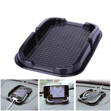 Car Anti Slip Pad Rubber Mobile Sticky Stick Dashboard Phone Shelf Anti Non Slip Mat For GPS MP3 Car DVR Non Slip Mat Holder(China)