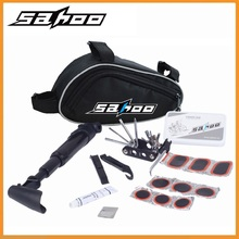 Original SAHOO 15 in 1 Cycling Bicycle Tools Bike Repair Kit Set with Pouch Pump Black  rubber patch cement tire levers
