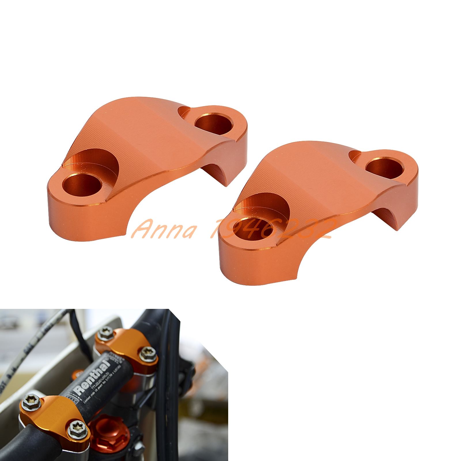 1-1/8 CNC BILLET HANDLEBAR CLAMP 28MM  For KTM 125 150 200 250 350 450 530 SX EXC XC XCW SXF FREERIDE<br><br>Aliexpress