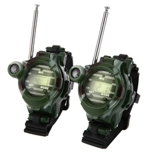 2pcs 7 In 1 Walkie Talkie Watch Camouflage Style Children Outdoor Toy Kids 150m Signal Range Interphone Kids Interactive Toys(China)