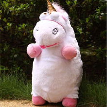 "Free shipping New 16.5""(42cm) Despicable Fluffy  Me 2 Unicorn Licorne Stuffed Soft Plush Doll Fluffy Toy Gift Best Quality"