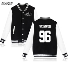 MULYEN KPOP Seventeen Album Concert Fans Supportive Member Name Print Hoodies Women Fashion Jacket Coat Fleece Baseball Uniform