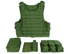 Military Tactical Vest Assault Airsoft Multicam Army Molle Mag Ammo Chest Rig Paintball Body Armor Harness With Pouches(China)