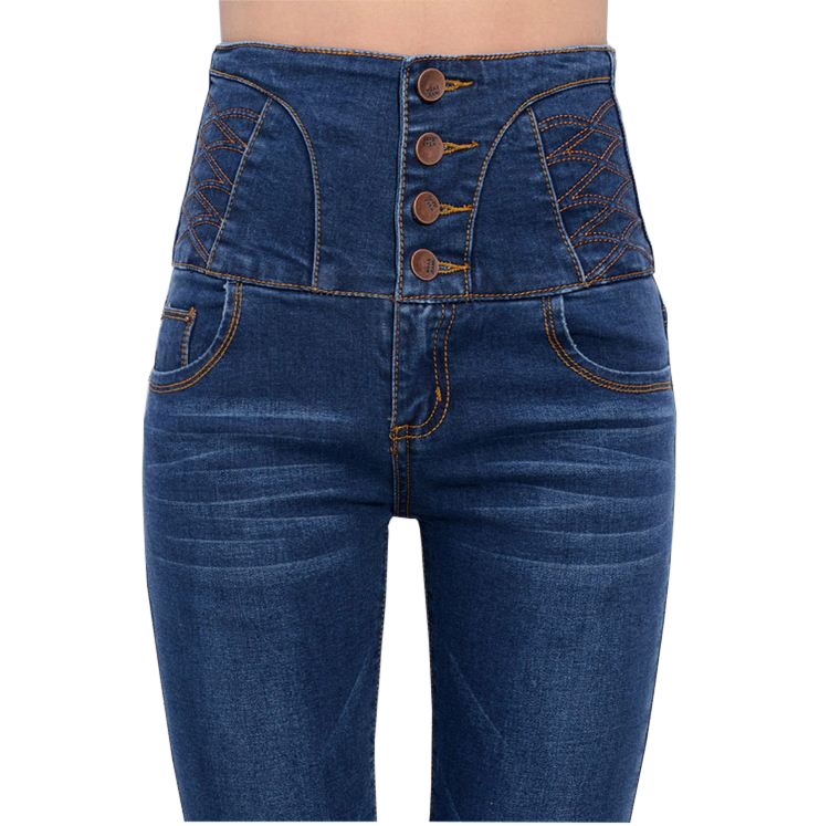 2017 New Plus Size High Waist Jeans Woman Femme Skinny Female Denim Trousers For Girls Casual Slim Thin Pencil PantsОдежда и ак�е��уары<br><br><br>Aliexpress