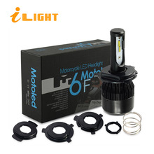 iLight HS1 LED H4 4000LM LED motorcycle headlight motorbike H4 light Bulb 36W BA20D Head lamp for ktm exc cafe racer harley M6F(China)