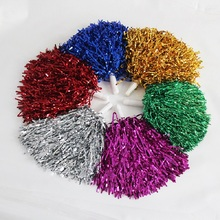 50g,1-12pcs,7color,plastic color cheerleader pompon Cheerleading Pom Poms Cheerleaders Props Suitable for increasing atmosphere