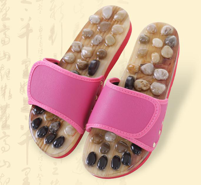 Spring Rotary Foot Massage Slippers/New Healthy Reflexology Acupuncture WOODEN MASSAGE SANDALS Shoes/tb 209021<br>