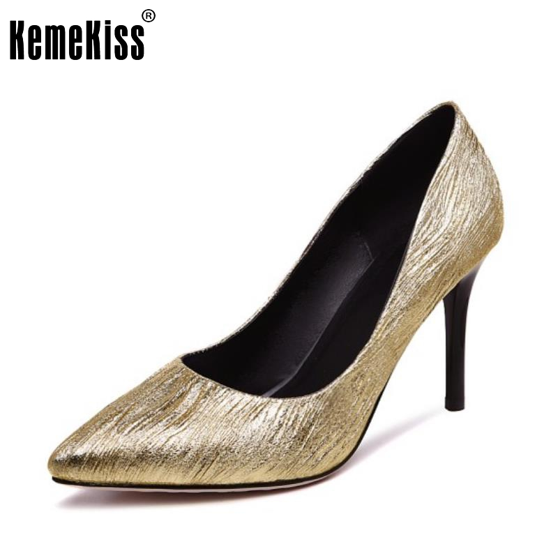 Size 32-42 Fashion Womens High Heel Shoes Women Sexy Wedding Party Pointed Toe Thin Heels Pumps  Print Ladies Footwear<br>