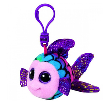 "Ty Beanie Boos 4"" 10cm & 10"" 25cm Flippy Multicolored Fish Clip Keychain Plush Stuffed Animal Collectible Doll Toy"