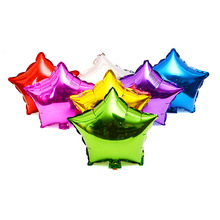 50pcs 5 inch Fashion five-pointed star foil balloons,small size party or festivel decor balloon,kid's inflatable toy,7 colors.(China)