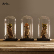 Aytai 1pc Party Holiday DIY Decorations Clear Glass Display Dome with Wooden Base Flower Photo Display Party Favors