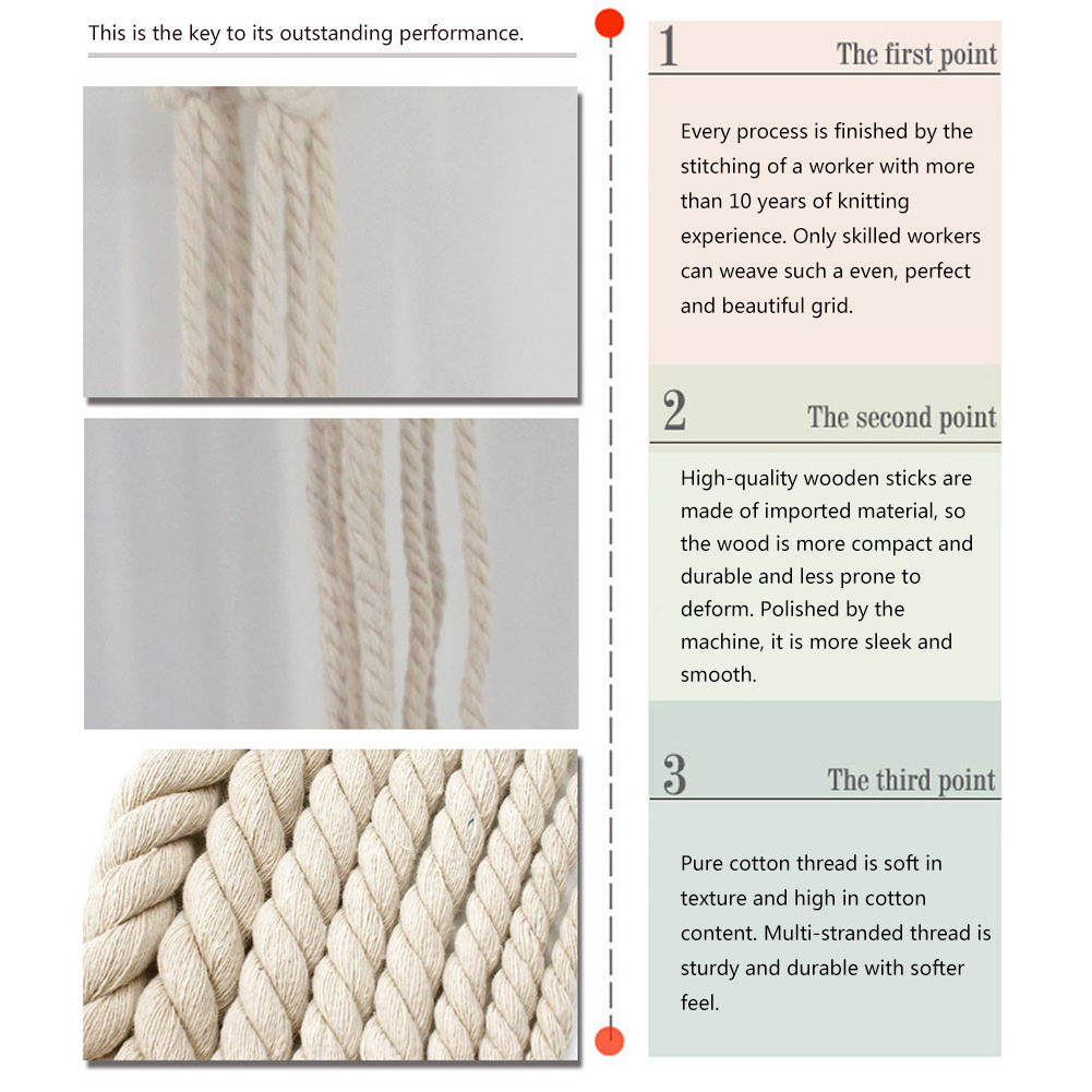 Small Handmade Macrame Wall Art Cotton Thread Wall Hanging Tapestry Bohemian Rope Pots Holder Hemp Rope Net Wall Decorations 18