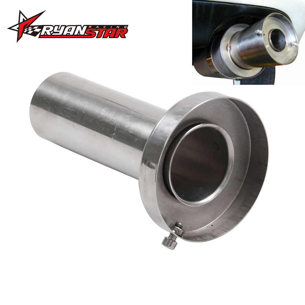 Color : 3.5 QinMei Zhou Universal exhaust pipe silencer adjustable 304 stainless steel tail throat muffler non-adjustable