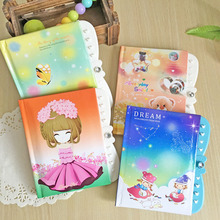 South Korean student stationery cartoon notebook diary password the password lock