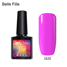 LED UV Nail Gel Polish Nude Style Easy Painting vernis gel UV Bling Giltter Gel Polish 10ML for nail protection(China)