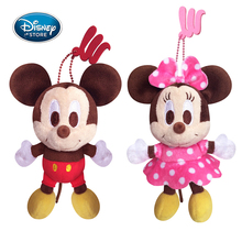 Disney 14CM/5.5'' Mickey Minnie Mouse Plush Toys Doll Winnie the Pooh Bear Squirrel Bag Ornament Keychain Chip Dale Pendant Toys(China)