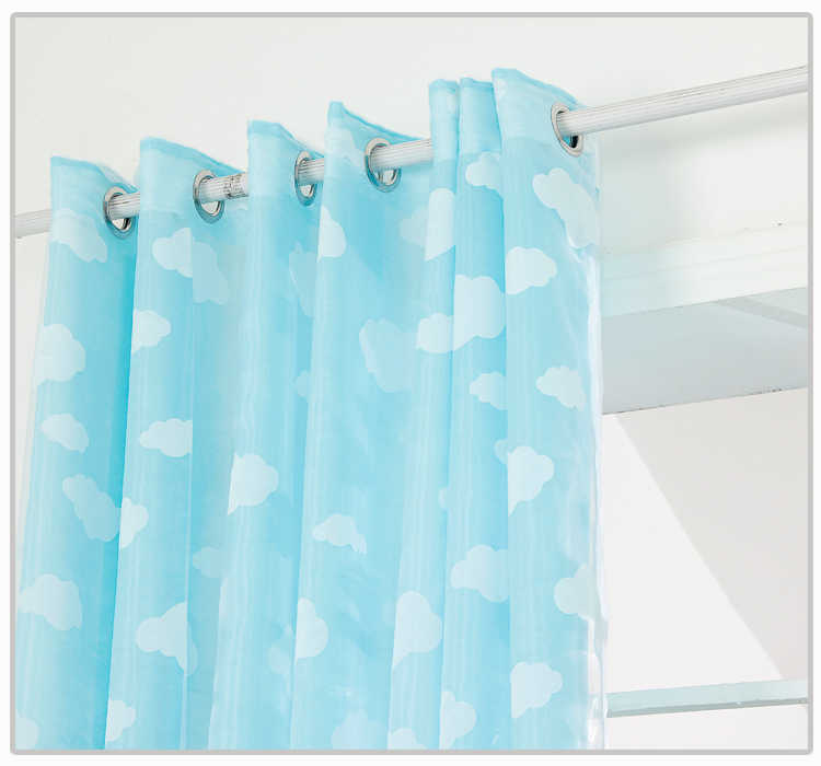 Tulle window curtain Blue Sky and white cloud screening child sheer curtains for the bedroom cortina rideaux