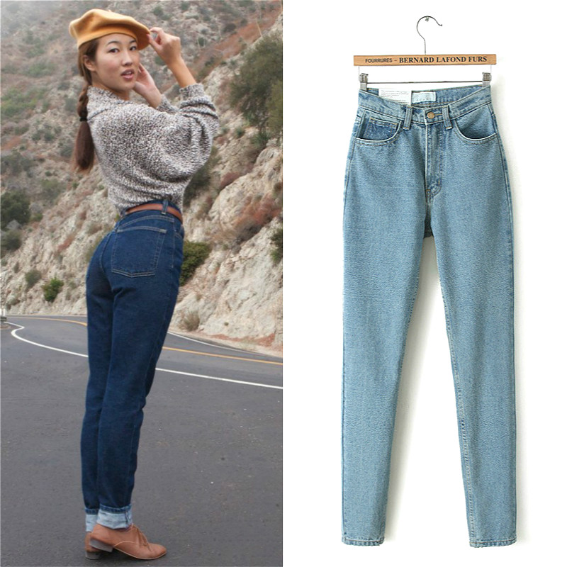 Boyfriend Jeans For Women High Waist Jeans Pencil Pants Denim Trousers Female Casual Jeans Mujer Femme Ladies Pants High Quality