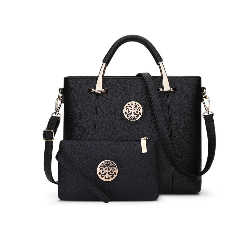 Handbag 2017 spring and summer new middle-aged womens handbag high-grade PU leather shoulder Messenger two sets of sub-package<br>