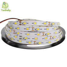 Tanbaby led strip SMD 3528 DC12V 60 LED/M flexible 2835 Rope Non-waterproof indoor decortion string light 5M/reel(China)
