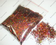 50gram 1MM Laser Coffee Dazzling Holographic Diamond Glitter Paillette Spangles Shapefor DIY Nail Art Decoration Glitter Crafts