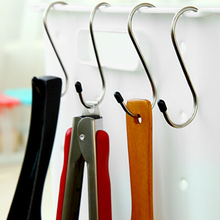 4pcs High-quality stainless steel S hook shape bearing 5kg multifunctional creative home decor hook hanger for keys clothes rack(China)