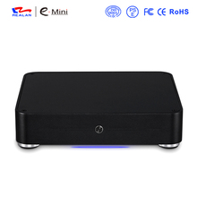 Realan Aluminum Mini ITX Case E-W44 Slim HTPC Desktop Computer Without CPU(China)