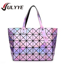 New Band Messenger Bag Candy Colors Diamond Women Fashion BAOBAO Shoulder Bag Geometry Sequins Mirror Plain Folding Bags Women