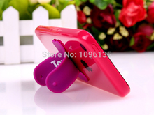 HOT Cute 10 Color Super Mini Touch U One Touch Universal Silicon Phone Holder Stand For iphone 6 Pad Mini Samsung S NOTE Tablet(China)