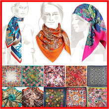 90cm*90cm 2017 Spring New Arrival High Quality Big Size Imitated Silk Satin Scarves Shawl women Square Silk Scarf