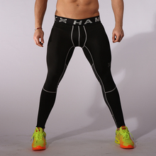 Compression running pants men sports basketball pants soccer skinny leggings tights yoga jogger jogging pants fitness trousers L