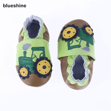2018 NEW Genuine Cow Leather Baby Moccasins Soft Soled Toddlers Infant Baby Shoes Boys Girls Newborn Shoes First Walkers(China)