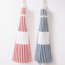 Cotton Fabric Aprons Stripe Cooking Baking Aprons Kitchen Restaurant Aprons Women Home Sleeveless Apron Household Cleaning Tools