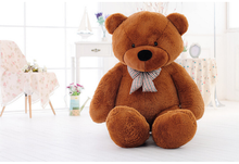 lovely bear toy plush toy cute big eyes bow stuffed bear toy teddy bear birthday gift brown about 80cm(China)