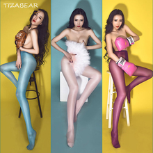 Hot Sexy Stockings High Waist Thigh Sexy Lingerie Ultrathin Stockings For Woman Open Crotch Panties Erotic Lingerie SW045(China)