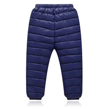 2017 New Autumn Winter Children Leggings Warm Pants Boys Girls Down Trousers Kids Elastic Waist Thick Pants Children's Clothes(China)