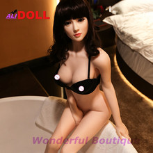 Oral Sex For Men 140 CM Height Real Silicone Japanese Sex Dolls Realistic Sexy Female Mannequin Beautiful Makeup Free Shipping(China)