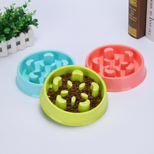 E Buy Online Interactive Flower Pet Fun Feeder Dog Cat Food Slow Bowl Puppy Anti Choke Bowl Pet Cat Food Alimentador Lento(China)