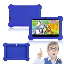 "Silicone Cute Soft Gel Case Cover For 7"" Android A23 Q88 Tablet PC Kids Blue(China)"