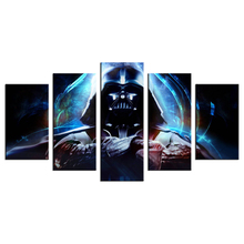 5 Piece Star Wars Canvas Wall Art Darth Vader Painting Modern Movie Poster Wall Art Home Decor Free Shipping