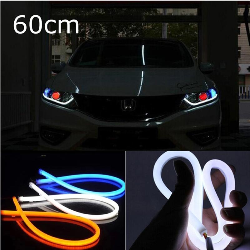 2pcs 60cm LED Daytime Running Light  Flexible DRL DIY Headlight For bmw<br><br>Aliexpress