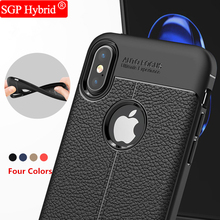 For Apple iPhone ayfon X 8 7 6 6s Plus 5 5s Se Phone Back Protective Smartphone Cover Soft Litchi pattern Shockproof Case funda(China)